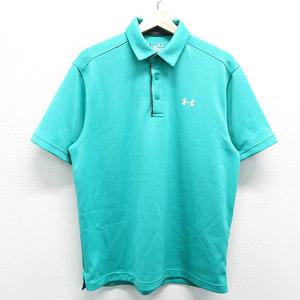 【即決】UNDER ARMOUR アンダーアーマー 半袖 ポロシャツ グリーン系 MD [240001406768] ゴルフウェア メンズ