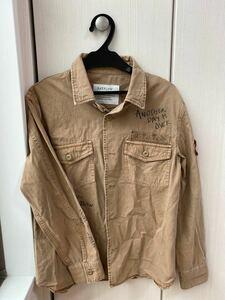ミリタリージャケット ロゴ  ミリタリーシャツ ワークシャツ
