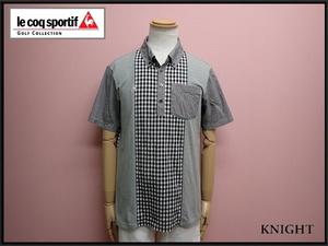 送料無料 le coq sportif GOLF COLLECTION POシャツ・L◆ルコックゴルフ/ポロシャツ/21*7*2-17