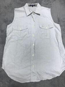 バーバリー38ノースリーブシャツ