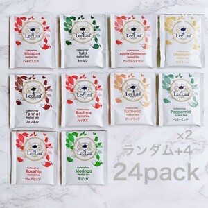 LeeLaa 10種類24P 紅茶 ハーブ アソート ティーバッグ 健康 ストレス緩和 体に良い いろいろ お試し