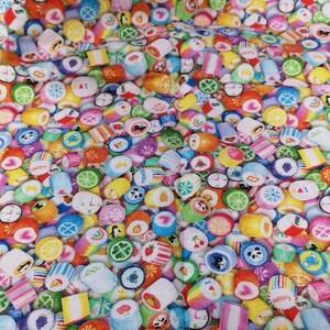 キャンディ リアル いっぱい 生地 写真プリント 金太郎飴 スイーツ 55×50