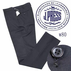 q664 新品 2万 J.PRESS ジェイプレス ハイランド ペピンメリノ エレガンス パンツ Jプレス 定番 ウール スラックス 綺麗め ブラック 36 w80