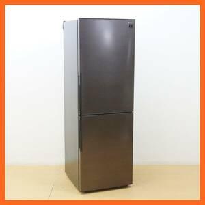 【シャープ】2ドア 冷凍冷蔵庫 310L SJ-PD31E-T 2019年 ブラウン系 プラズマクラスター シャキット野菜室 メガフリーザー ★送料無料★