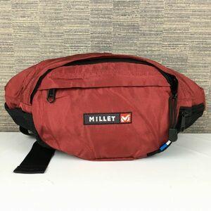 MILLET/ミレー ウエストポーチ/ボディーバッグ 赤 ロゴ 管NO.B17-25