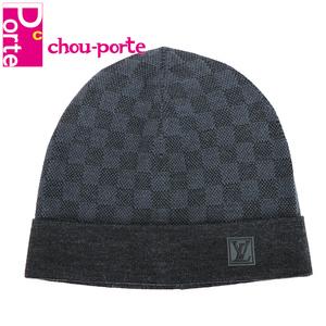 ルイヴィトン (LOUIS VUITTON) ニット帽 キャップ ボネ プティ ダミエ ウール コバルト M70011メンズ 未使用品 現行