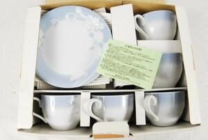 6067 未使用 HANAE MORI カップ5客 ケーキ皿5枚セット 箱入 愛知県岡崎市 直接引取可