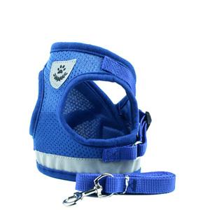 ☆ Mサイズ☆ ブルー bl884 ハーネス リード セット ペット用品 ハーネス 小型犬 中型犬 通販 可愛い 抜けない リード セット お散歩 グ