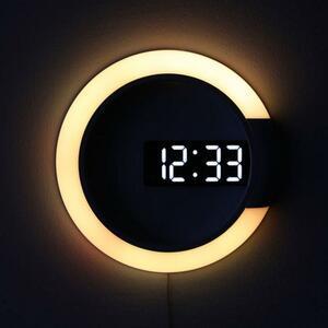 【最安値宣言】【目立った傷や汚れなし】3D ledデジタル置時計をアラーム中空壁時計7色現代温度日付常夜灯ホームリビングルーム装飾