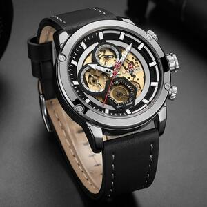 【中古売ります】【最安値に挑戦】NAVIFORCE メンズ高級クォーツ時計メンズレザー防水腕時計カレンダー男性時計レロジオ Masculino