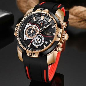【中古品販売】【安く買えます!】Lige 2020新ファッションメンズ腕時計ラグジュアリースポーツクロノグラフ軍事防水時計レロジオmasculin