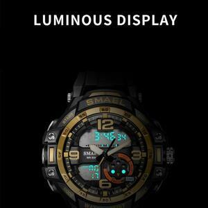 【中古売ります】【最安値に挑戦】Smaelメンズ防水スポーツデジタル腕時計ミリタリー時計アラーム1350Bレロジオmasculinoクォーツ時計