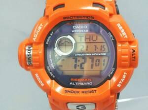 カシオ ジーショック ライズマン メン イン レスキューオレンジ メンズ 電波ソーラー デジタル マルチバンド6 樹脂バンド
