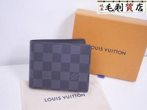 送料無料!未使用品!格安!ルイヴィトン LOUIS VUITTON ダミエグラフィット ポルトフォイユ スレンダー N63261 財布 札入れ
