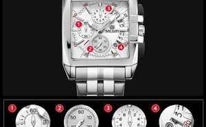 【最安】JEDIRレロジオMasculinoメンズ腕時計トップブランドファッションビジネスクォーツ時計男性スポーツフルス White