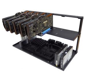 RTX2060S-2080Ti 複合マイニングリグ(MSRG-RTX2060-80G6)(1年保証)