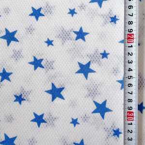 星柄 コットン メッシュニット a3 155×80 ニット生地 星 リメイク 肌着 ドッグウエア ハンドメイド 布 ハギレ はぎれ