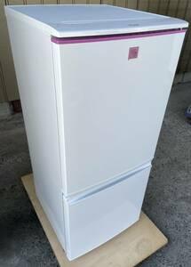 福岡市内送料無料 SHARP シャープ 13年製 137L どっちもドアタイプ 2ドア冷凍冷蔵庫 SJ-14E1-KP ピンク 一人暮らし 単身 女性 学生