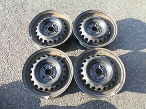 ホンダ フィット GD1 GD2 純正 スチールホイール 鉄チン 5,5J 14インチ +45 PCD100-4穴 ハブ径56㎜ 4本セット