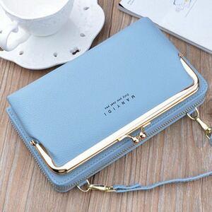 ■ショルダーバッグ ☆ブルー☆ 長財布 カードケース お財布ポシェット