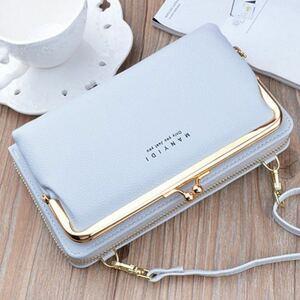 ■ショルダーバッグ ☆グレー☆ 長財布 カードケース お財布ポシェット