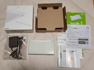 ニンテンドーDS Lite クリスタルホワイト 本体 箱 説明書 電源アダプター タッチペン DSライト