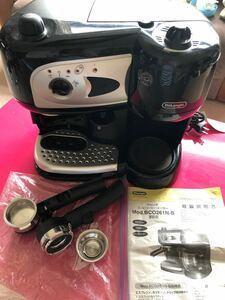 デロンギ コンビ コーヒーメーカー エスプレッソ カプチーノ Mob.BCO261N-B
