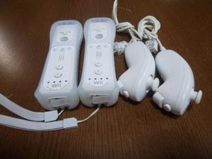 RSJN97【送料無料 動作確認済】Wii リモコン モーションプラス ジャケット ストラップ ヌンチャク ホワイト 白 純正品 2個セット