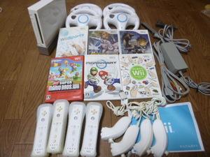 WH82【送料無料 即日配送 動作確認済】Wii すぐに4人で遊べるセット マリオカート ポケモン バトルレボリューション マリオブラザーズ
