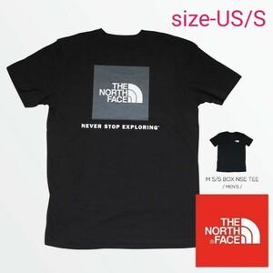 希少THE NORTH FACE size-S ザノースフェイス MEN'S S/S BOX NSE TEE (海外正規品)黒