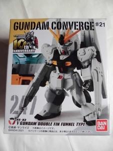 FW GUNDAM CONVERGE(ガンダムコンバージ) ♯21 νガンダム(ダブル・フィン・ファンネル装備型) バンダイ
