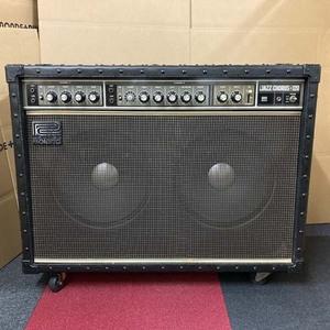 s)Roland ローランド JAZZ CHORUS-120 ジャズコーラス ギターアンプ 音だしOK ※ジャンク品扱い キャスター1箇所破損有 表面ベタツキ有