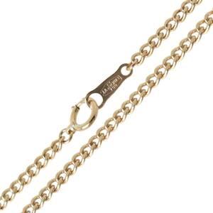 LaSoma ラソマ 喜平ネックレス 2面シングル チェーンネックレス K18 18金 首周り約50cm 重量約9.6g NT 磨き仕上げ品 Sランク
