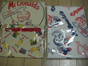 マクドナルド ビッグスマイルバッグ グッズのみ3点セット 福袋 マック50周年 限定グッズ バッグ・タオル・ポーチ