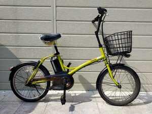 パナソニック SugarDrop 電動アシスト自転車 20インチ ENCS03 内装3段変速 6.6Ahバッテリー・充電器 整備済み自転車! 071305