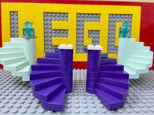☆螺旋階段☆ レゴ 建物パーツ 階段 ステップ ( LEGO ハリーポッター ディズニープリンセス お城
