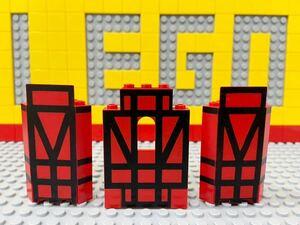 ☆城壁☆ レゴ お城パーツ 壁 赤色 ( LEGO 6067 騎士の休憩所など