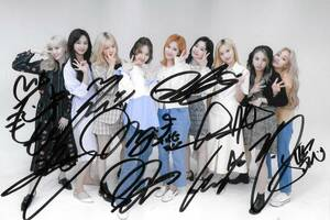★TWICE★「More & More」全員直筆サイン入り宣伝写真 212 証明書付