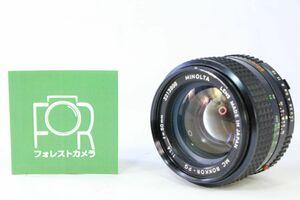 ミノルタ MINOLTA MC ROKKOR-PG 50mm F1.4★前玉カビ跡?★AC 170