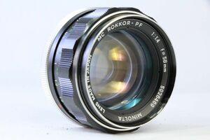 実用★ミノルタ MINOLTA MC ROKKOR-PF 58mm F1.4うすくもり★AH 653