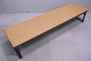 イトーキ 折りたたみ 座卓テーブル 和室用ローテーブル TBS-615CN-11 書道教室など 中古品■(F3534)