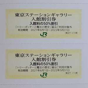 JR東日本株主優待◆東京ステーションギャラリー入館割引券2枚◆2022年5月31日まで◆送料63円