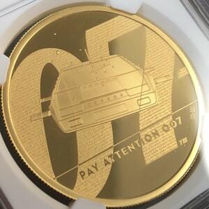 ☆動画有り!!☆専用箱付 2020年 イギリス 007 ジェームズ・ボンド 英国 200ポンド 2オンス 金貨 NGC PF70UC コインLA0041