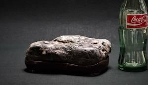 鑑賞石 1.5㎏ 溜り石 【即決送料込み】 景石 原石 水石 鉱物 自然石 置物 原石 盆石 飾り石