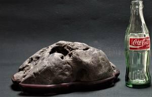 鑑賞石 4.9㎏ 溜まり石 即決送料込み 景石 原石 水石 鉱物 自然石 置物 原石 盆石 飾り石