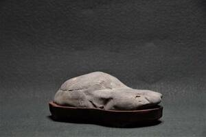 鑑賞石 0.6㎏ 山型石 姿石 即決送料込み 景石 原石 水石 鉱物 自然石 置物原石 盆石 飾り石