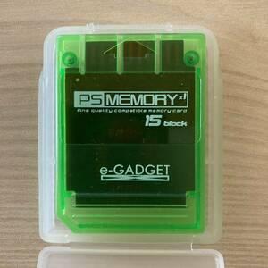 PSメモリーカード 15ブロック クリアグリーン