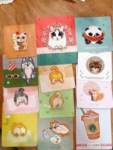 刺繍布ワッペン パンタ可愛いネコ 動物おしり