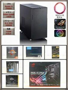 【静寂&至上極冷!】Ryzen 9 5900X/Fractal Design Define R5/ASUS ROG STRIX X570-F GAMING/M.2 500GB/M16GB/750W GOLD/Win10[YY8337]
