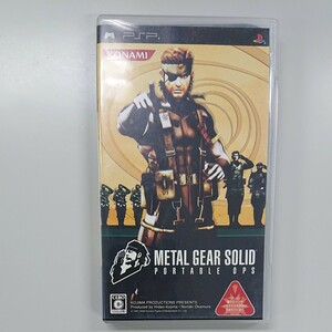 PSP メタルギアソリッド METAL GEAR SOLID portable ops